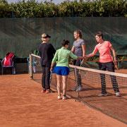 Halbfinale: Manuela Draxler und Marina Rusina (links), Chiara Jung und Daniela Dissauer (rechts)