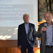 Michael Koller und 2. Vorsitzender der Akademie Dr. Peter Deml bei der Begrüßung