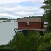 Le garage à bateaux