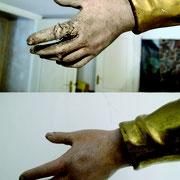 détail restauration d'un doigt