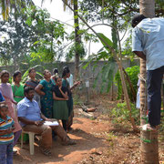 During the Coconut Tree Climbing Training women and men learned about the buiseness and how to climb trees using machines.