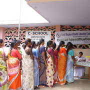 During this Special Medical Camp the participants got tested for cancer.