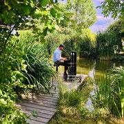 Mobiler Pianist am See der Ankermühle