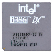 Intel A80386DX-33 IV new logo