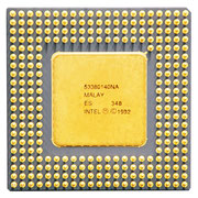 "Intel Pentium 60 MHz with ""PROCESSOR"" printing (1). SX835. This processor has the Pentium FDIV-Bug"
