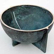 leif månsson skål i gjuten och patinerad brons
