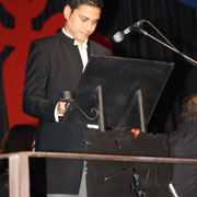 Nuestro gran presentador Lino Pérez, un esperto en estos eventos.