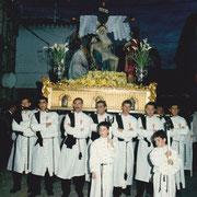 Paso de La Piedad en 1993. Foto cedida por José Vicente Amores.