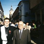 Antes de la procesión. Año 2000. (foto cedida por Esteban Casarrubios)