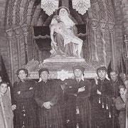 La Piedad delante del monumento que se instalaba en el Convento.