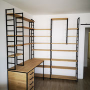Bureau - bibliothèque en angle (ref CAR-19500)