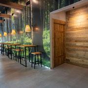 Wandverkleidung Altholzbretter Hellbraun