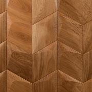 Wandverkleidung - Wand-Design Exklusiv, Rhombus Plus, Farbton natur