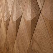 Wandverkleidung - Wand-Design Exklusiv, Diamant kombiniert mit flachen Elementen, Farbton Natur