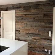 Wandverkleidung Altholz Grey, selbstklebend, Kundenreferenz