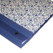 Schraubalbum Fotoalbum DinA4 Ornamente blau