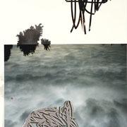 """""""gemischte Gefühle #9"""" 2020, Collage, Tusche, C-Print, Folienplot, Papier, 40 x 30 cm I (c) Maja Rohwetter VG BildKunst"""