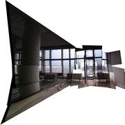 Zentrale 2, ca. 59 x 59 cm, Vieleck, Inkjet auf Acrylglas, 2010