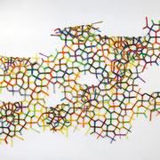 """Cairo"" 2014, Kunstharzlack auf eVa-Folien, ca. 250 x 470 cm"