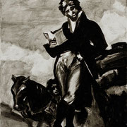 """""""Goya"""" 32x24cm, aus der Serie """"Verschollene Bilder"""" 2009, 14 Gemälde Öl & Tusche auf Leinwand, verschiedene Maße"""