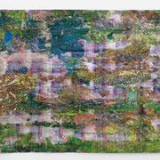 """""""Parcours"""" 2013, Mischtechnik auf Papier, 150 x 240 cm"""