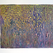 """Crust"" 2020, Acryl, Papier, 112 x 142 cm"