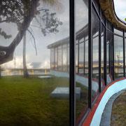 """""""Havanna Comodoro"""" 2020, aus der Serie La Marea (Gezeiten), Lightjet Print hinter Plexiglas matt, gerahmt mit Schattenfuge, 116,5 x 154 cm"""