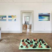 """""""Schwarze Würfe II"""" 2017. Installation View Kunstverein Neustadt © Gabriele Künne / VG Bild Kunst"""