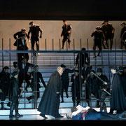 2013 Salzburger Festspiele, Don Carlo, Konzertvereinigung Wiener Staatsopernchor, Foto: Rittershaus