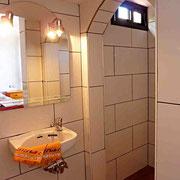 . . . und in deren Badezimmer