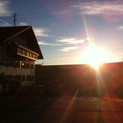 Sonnenaufgang in Durach