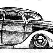 """""""Lowered Rod"""", Bleistift auf Papier, ca. 20 x 15 cm, freie Arbeit"""