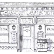 """Skizze """"Castellans' Inn"""" für Planendruck, Castellans e. V. 2013"""