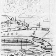 """Coverskizze für """"Mein großes Soundbuch, Schwager & Steinlein Verlag, 2012"""