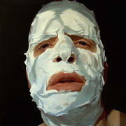 Shaving foam. Óleo sobre tela / Oil on canvas, 50 x 50 cm, 2005