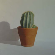 Cactus. Óleo sobre madera / Oil on table, 50 x 50 cm, 2009