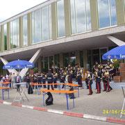 La musique des Troupes de Marine.