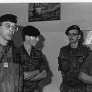 1993, le majorMiller, second du 292 avec le colonel Falzone, chef de corps du 110° R.I.
