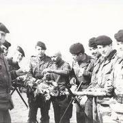 Sur la photo, ADJ Boukhalfa, SCH Salimochi, SGT Duffo et SGT Lenhardt.