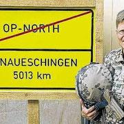 OTL Mirow, chef de corps du Jägerbataillon 292 en Opex Afghanistan.