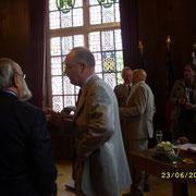 Réception à la mairie, le 23 juin, le Gal Cot et le Col Pellabeuf.