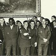 1970 dans la grande salle du mess des officiers, Sch Facchini, Sch Fillette......