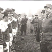Gal Massu, Col Prost, finale de rugby des FFA, joueur Cne Jolibois, Sch Delard, Sch Gimenez, Sgt Duffo.....