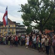 23.06.2014 Dernière cérémonie militaire du 110° R.I. devant la salle des fêtes.