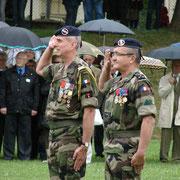 Le Gal Chalmel, commandant la B.F.A. et le Col Roux, chef de corps du 110 de 2010 à 2012.