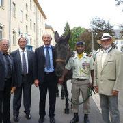 les sportifs ! Gilbert Auroux, Roca, Grenier et Bachelard.