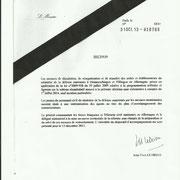 31 octobre 2013, décision de dissolution signée par le ministre de la Défense, Jean-Yves Le Drian.