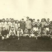 1967, rencontre amicale de football entre le 292 Panzer Grenadier Bataillon de Immendingen et le 110° R.I.