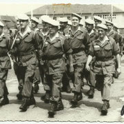 1967, le Sch Facchini chef de section, au milieu du 1° rang, le Sgt Saccone.