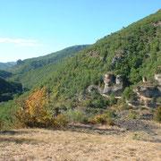 La vue sur la vallée de la Dourbie